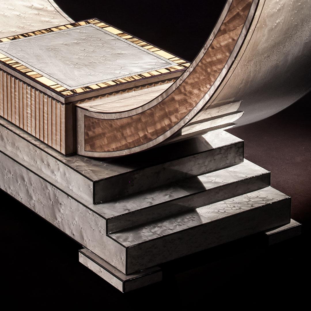 Excelsior Silver Maple Oblique Feet Full